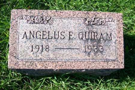 QUIRAM, ANGELUS E. - Woodford County, Illinois | ANGELUS E. QUIRAM - Illinois Gravestone Photos