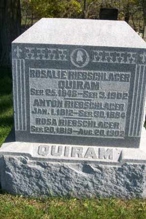 RIEBSCHLAGER QUIRAM, ROSALIE - Woodford County, Illinois | ROSALIE RIEBSCHLAGER QUIRAM - Illinois Gravestone Photos