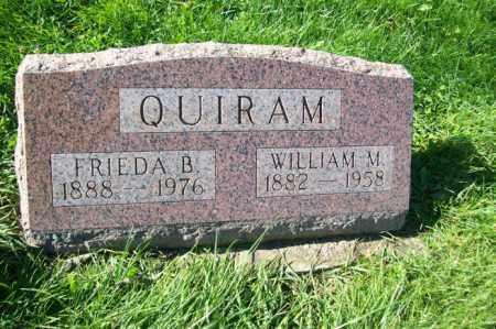 QUIRAM, WILLIAM M. - Woodford County, Illinois | WILLIAM M. QUIRAM - Illinois Gravestone Photos