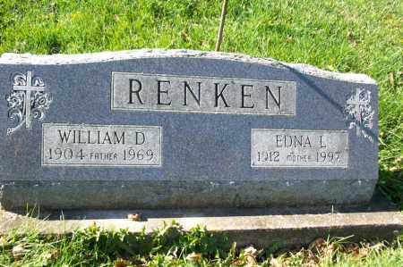 RENKEN, EDNA L. - Woodford County, Illinois | EDNA L. RENKEN - Illinois Gravestone Photos
