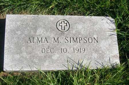 SIMPSON, ALMA M. - Woodford County, Illinois   ALMA M. SIMPSON - Illinois Gravestone Photos