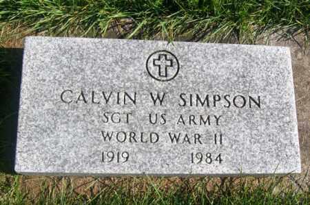 SIMPSON, CALVIN W. - Woodford County, Illinois | CALVIN W. SIMPSON - Illinois Gravestone Photos