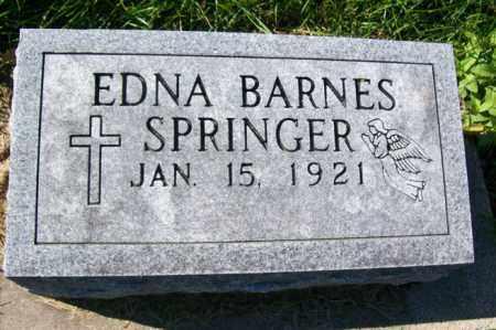 SPRINGER, EDNA BARNES - Woodford County, Illinois   EDNA BARNES SPRINGER - Illinois Gravestone Photos