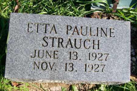 STRAUCH, ETTA PAULINE - Woodford County, Illinois | ETTA PAULINE STRAUCH - Illinois Gravestone Photos