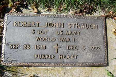 STRAUCH, ROBERT JOHN (MILITARY STONE) - Woodford County, Illinois | ROBERT JOHN (MILITARY STONE) STRAUCH - Illinois Gravestone Photos