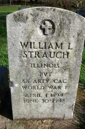 STRAUCH, WILLIAM L. (MILITARY STONE) - Woodford County, Illinois | WILLIAM L. (MILITARY STONE) STRAUCH - Illinois Gravestone Photos