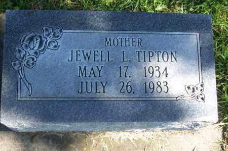 TIPTON, JEWELL L. - Woodford County, Illinois | JEWELL L. TIPTON - Illinois Gravestone Photos