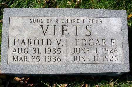 VIETS, EDGAR R. - Woodford County, Illinois | EDGAR R. VIETS - Illinois Gravestone Photos