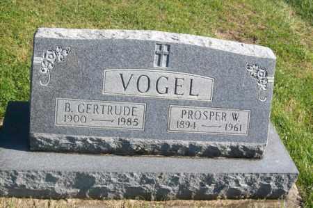 VOGEL, PROSPER W. - Woodford County, Illinois   PROSPER W. VOGEL - Illinois Gravestone Photos