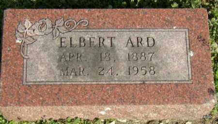 ARD, ELBERT - Allen County, Kansas   ELBERT ARD - Kansas Gravestone Photos