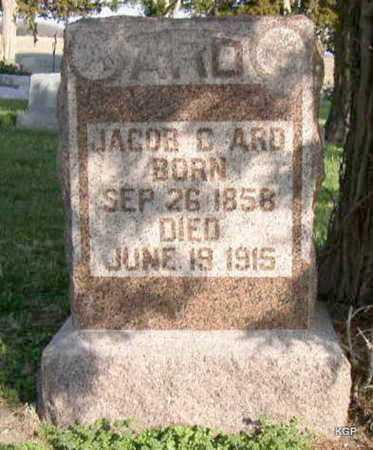 ARD, JACOB C - Allen County, Kansas   JACOB C ARD - Kansas Gravestone Photos