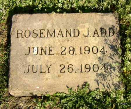 ARD, ROSEMAND J - Allen County, Kansas | ROSEMAND J ARD - Kansas Gravestone Photos