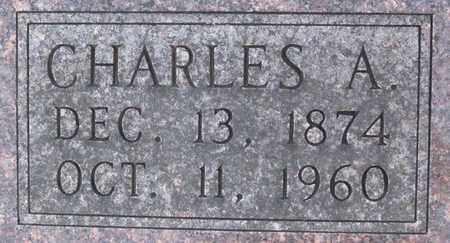 BOOHER, CHARLES A (CLOSE-UP) - Allen County, Kansas   CHARLES A (CLOSE-UP) BOOHER - Kansas Gravestone Photos