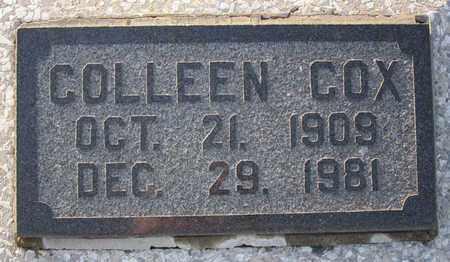 "COX, ULA ""COLLEEN"" (CLOSE UP) - Allen County, Kansas | ULA ""COLLEEN"" (CLOSE UP) COX - Kansas Gravestone Photos"