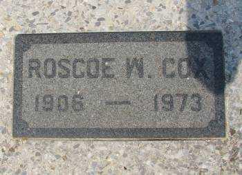 COX, ROSCOE W (CLOSE UP) - Allen County, Kansas | ROSCOE W (CLOSE UP) COX - Kansas Gravestone Photos