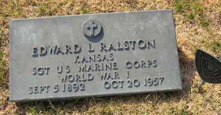 "RALSTON, EDWARD L ""ED""  (VETERAN WWI) - Allen County, Kansas   EDWARD L ""ED""  (VETERAN WWI) RALSTON - Kansas Gravestone Photos"