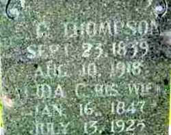 "THOMPSON, ALIDA C ""IDA"" (CLOSE UP) - Allen County, Kansas | ALIDA C ""IDA"" (CLOSE UP) THOMPSON - Kansas Gravestone Photos"