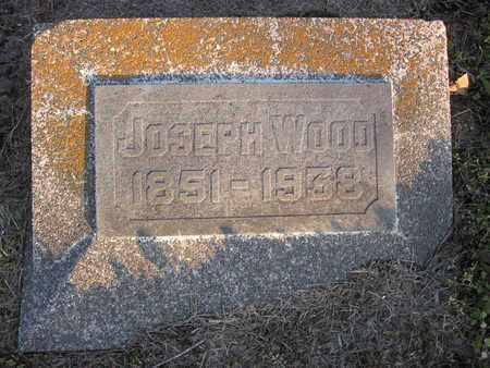 WOOD, JOSEPH HENRY (CLOSE UP) - Allen County, Kansas | JOSEPH HENRY (CLOSE UP) WOOD - Kansas Gravestone Photos