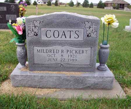 PICKERT COATS, MILDRED - Anderson County, Kansas | MILDRED PICKERT COATS - Kansas Gravestone Photos