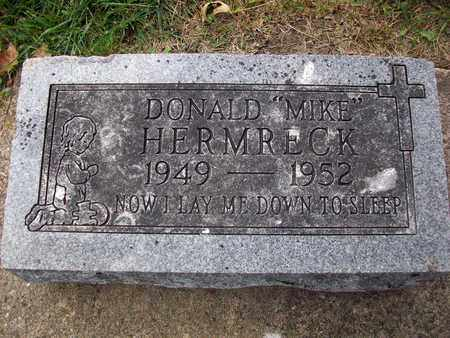 """HERMRECK, DONALD """"MIKE"""" - Anderson County, Kansas   DONALD """"MIKE"""" HERMRECK - Kansas Gravestone Photos"""