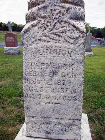 "HERMRECK, HEINRICH ""HENRY"" (CLOSE UP) - Anderson County, Kansas | HEINRICH ""HENRY"" (CLOSE UP) HERMRECK - Kansas Gravestone Photos"