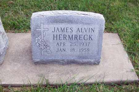 HERMRECK, JAMES ALVIN - Anderson County, Kansas | JAMES ALVIN HERMRECK - Kansas Gravestone Photos