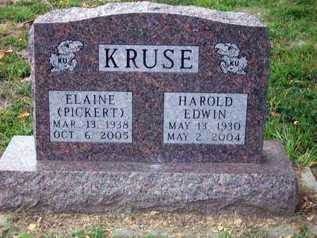 PICKERT KRUSE, ELAINE - Anderson County, Kansas | ELAINE PICKERT KRUSE - Kansas Gravestone Photos