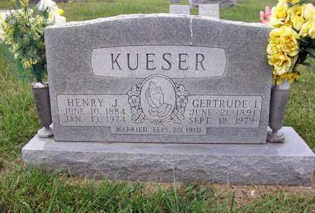 KUESER, HENRY J - Anderson County, Kansas | HENRY J KUESER - Kansas Gravestone Photos