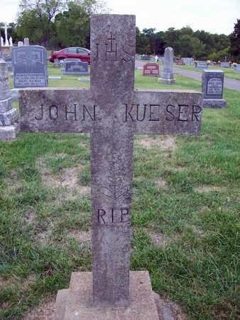 KUESER, JOHN HENRY - Anderson County, Kansas | JOHN HENRY KUESER - Kansas Gravestone Photos