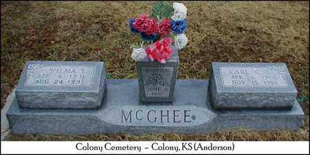 MCGHEE, WILMA I - Anderson County, Kansas | WILMA I MCGHEE - Kansas Gravestone Photos