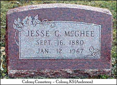 MCGHEE, JESSE C - Anderson County, Kansas   JESSE C MCGHEE - Kansas Gravestone Photos