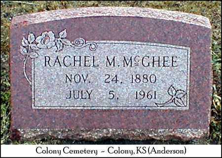 MCGHEE, RACHEL M. - Anderson County, Kansas | RACHEL M. MCGHEE - Kansas Gravestone Photos
