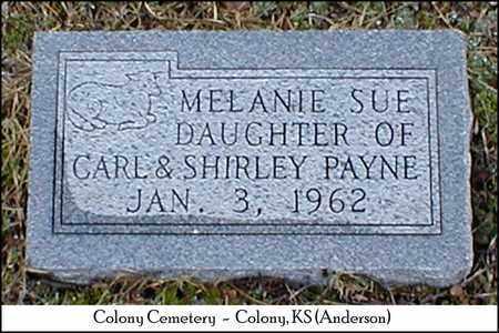 PAYNE, MELANIE SUE - Anderson County, Kansas   MELANIE SUE PAYNE - Kansas Gravestone Photos