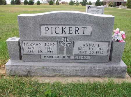 PICKERT, ANNA T - Anderson County, Kansas | ANNA T PICKERT - Kansas Gravestone Photos