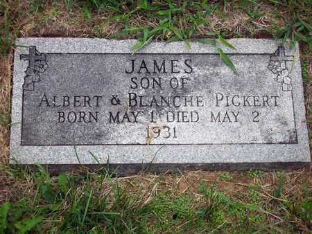 PICKERT, JAMES - Anderson County, Kansas | JAMES PICKERT - Kansas Gravestone Photos