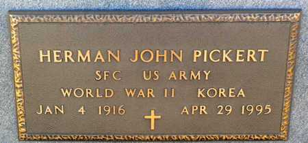 PICKERT, HERMAN JOHN  (VETERAN 2 WARS) - Anderson County, Kansas | HERMAN JOHN  (VETERAN 2 WARS) PICKERT - Kansas Gravestone Photos