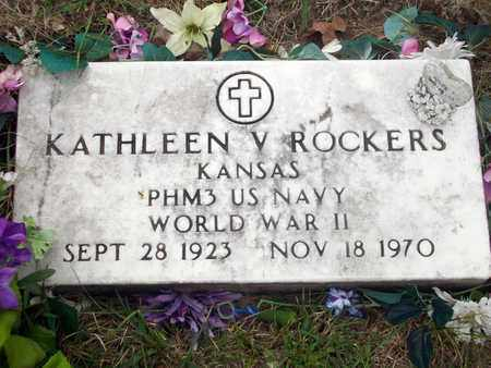 ROCKERS, KATHLEEN V   (VETERAN WWII) - Anderson County, Kansas | KATHLEEN V   (VETERAN WWII) ROCKERS - Kansas Gravestone Photos