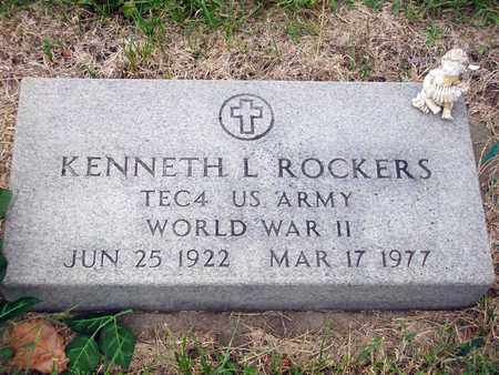 ROCKERS, KENNETH L  (VETERAN WWII) - Anderson County, Kansas | KENNETH L  (VETERAN WWII) ROCKERS - Kansas Gravestone Photos