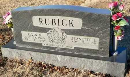 RUBICK, ALVIN FRANCIS - Anderson County, Kansas | ALVIN FRANCIS RUBICK - Kansas Gravestone Photos