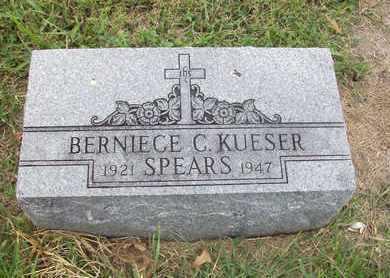 KUESER SPEARS, BERNIECE CLARA - Anderson County, Kansas | BERNIECE CLARA KUESER SPEARS - Kansas Gravestone Photos