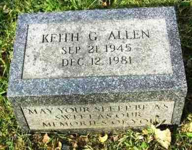 ALLEN, KEITH G - Atchison County, Kansas | KEITH G ALLEN - Kansas Gravestone Photos