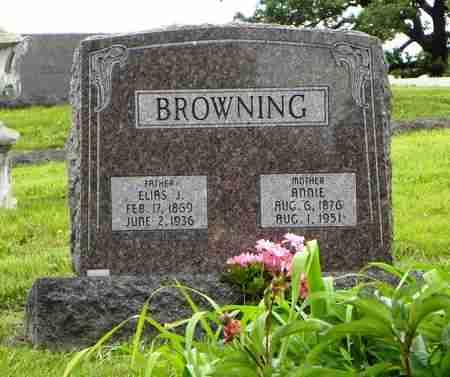 BROWNING, ELIAS J - Atchison County, Kansas | ELIAS J BROWNING - Kansas Gravestone Photos