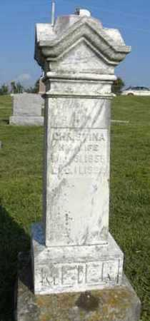 MEIER, CHRISTINA - Atchison County, Kansas | CHRISTINA MEIER - Kansas Gravestone Photos