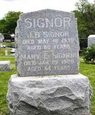 SIGNOR, J B - Atchison County, Kansas | J B SIGNOR - Kansas Gravestone Photos