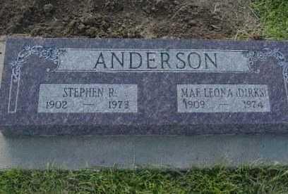ANDERSON, STEPHEN R - Barton County, Kansas | STEPHEN R ANDERSON - Kansas Gravestone Photos