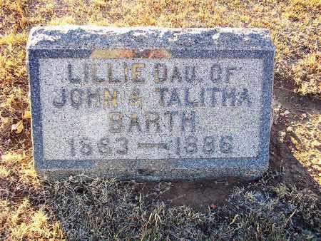 BARTH, LILLIE - Barton County, Kansas | LILLIE BARTH - Kansas Gravestone Photos