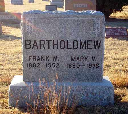 FISHER BARTHOLOMEW, MARY V - Barton County, Kansas | MARY V FISHER BARTHOLOMEW - Kansas Gravestone Photos