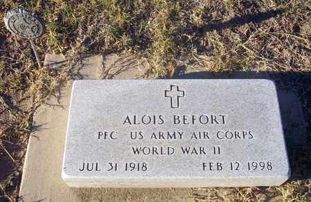 BEFORT, ALOIS  (VETERAN WWII) - Barton County, Kansas   ALOIS  (VETERAN WWII) BEFORT - Kansas Gravestone Photos