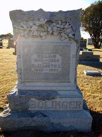 SMITH BOLINGER, ELIZABETH ELLEN - Barton County, Kansas | ELIZABETH ELLEN SMITH BOLINGER - Kansas Gravestone Photos