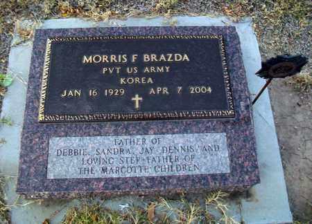 BRAZDA, MORRIS F  (VETERAN KOR) - Barton County, Kansas | MORRIS F  (VETERAN KOR) BRAZDA - Kansas Gravestone Photos